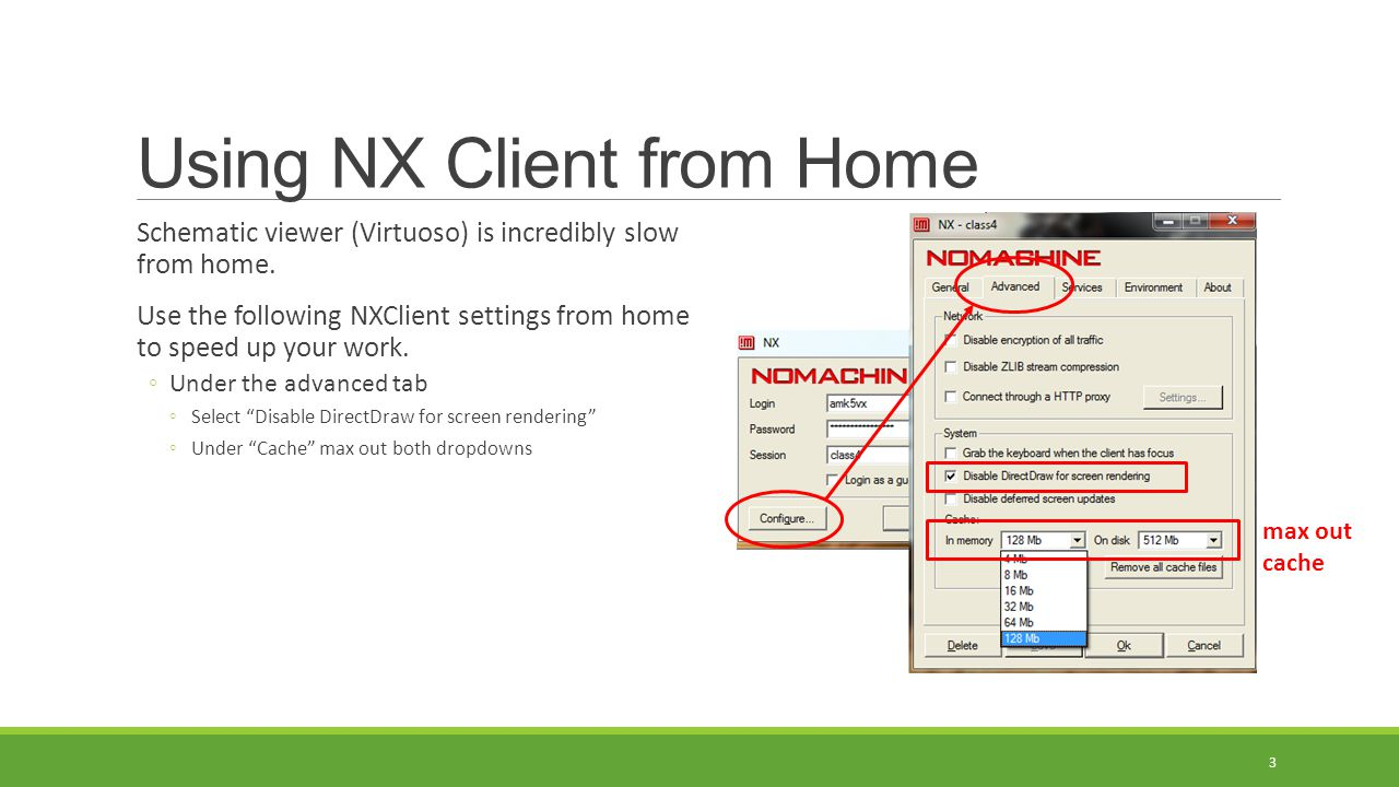 Using NX Client from Home