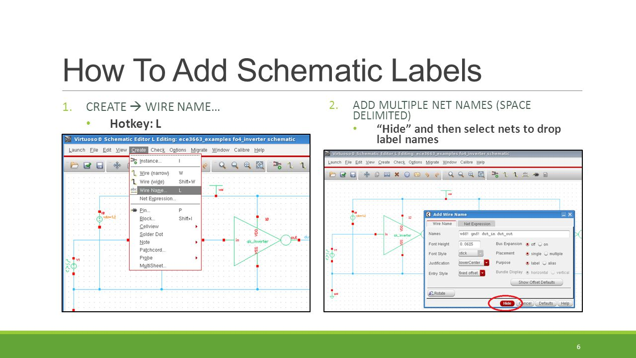 How To Add Schematic Labels
