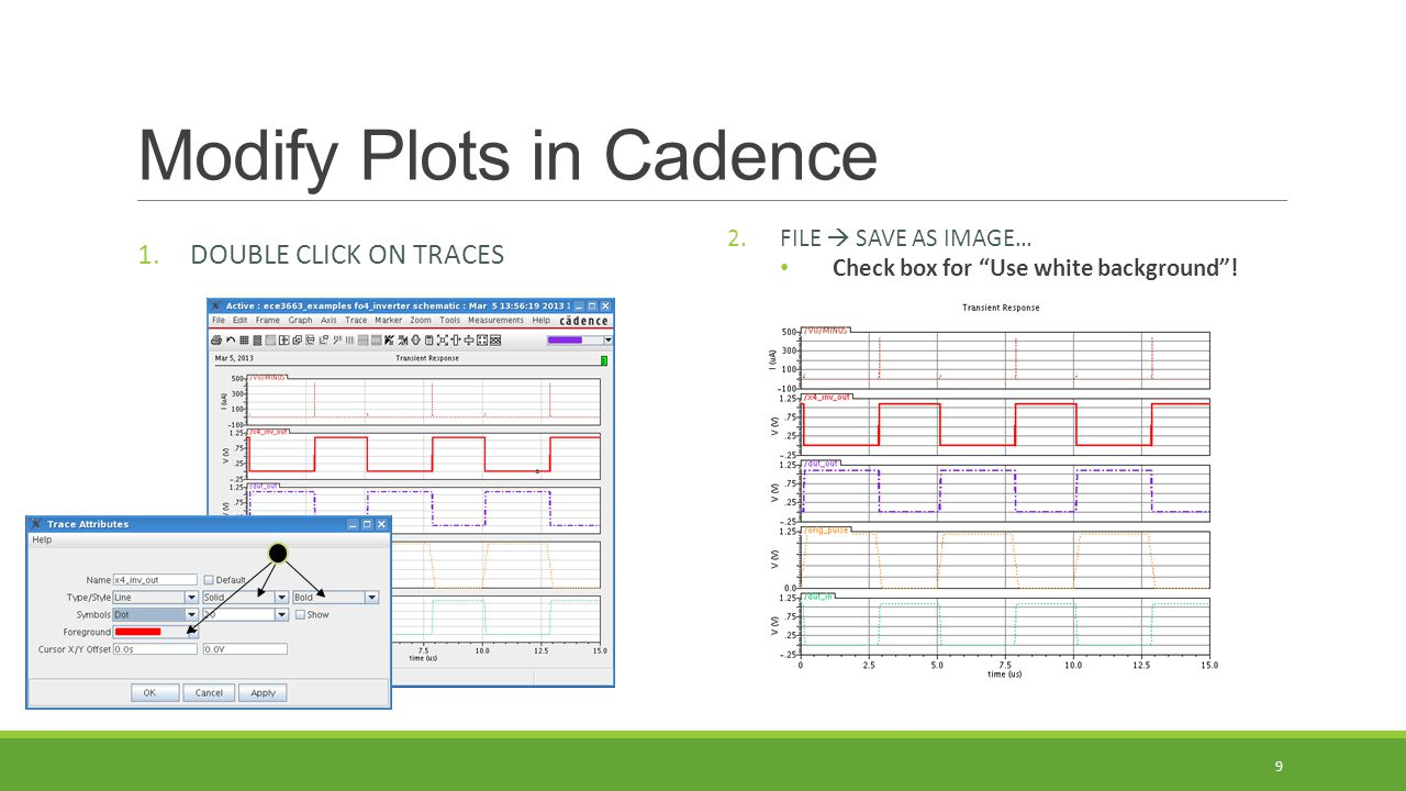 Modify Plots in Cadence