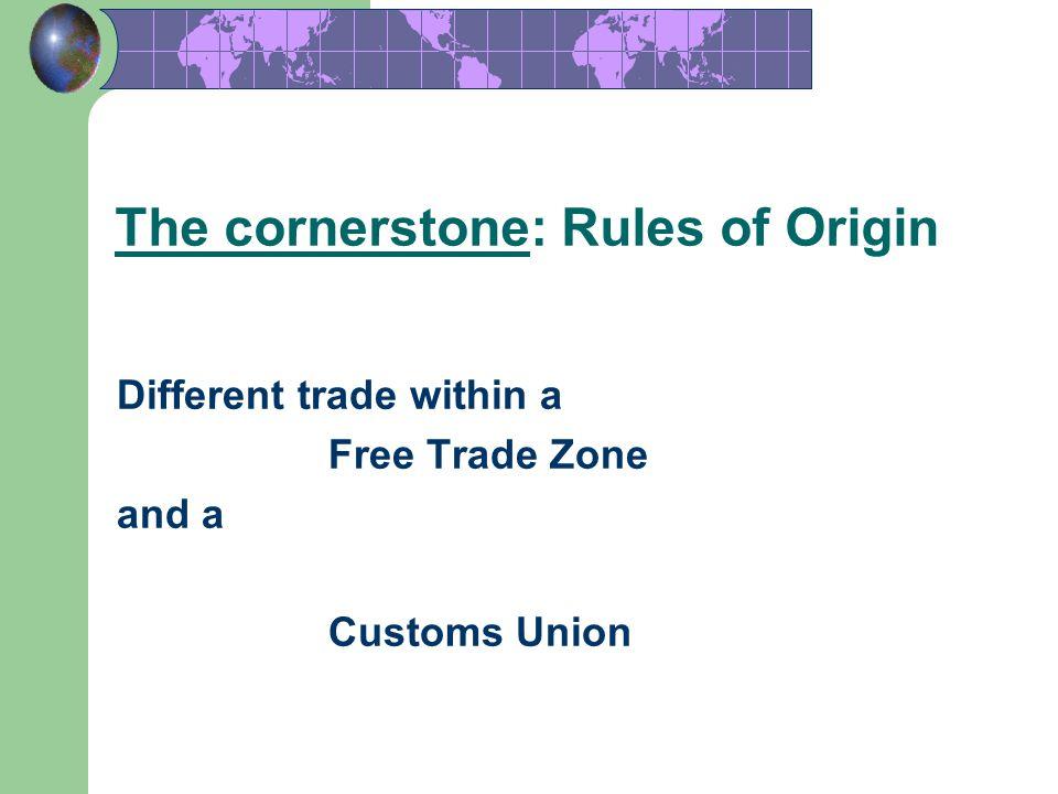 The cornerstone: Rules of Origin