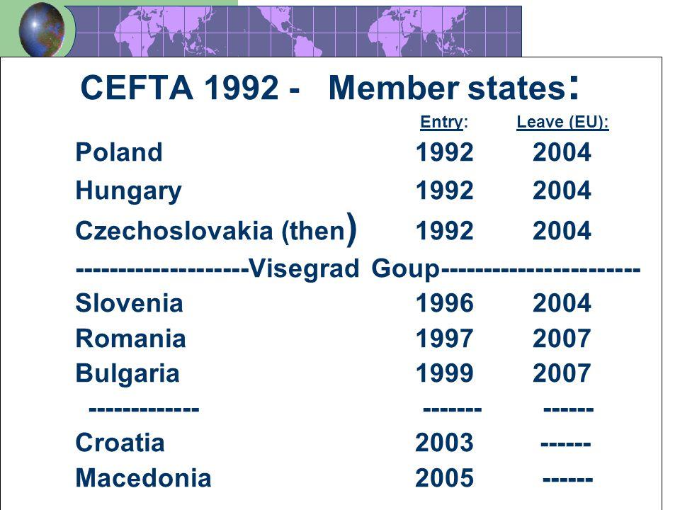 Poland 1992 2004 Hungary 1992 2004 Czechoslovakia (then) 1992 2004