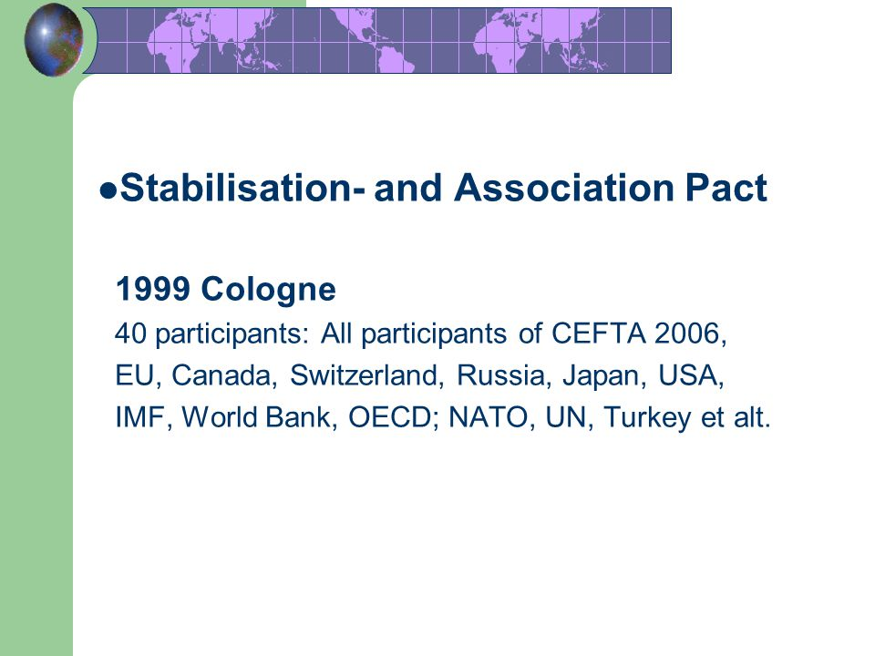 Stabilisation- and Association Pact