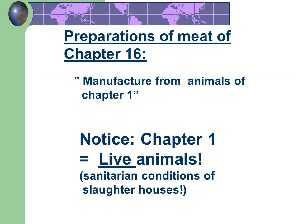 Notice: Chapter 1 = Live animals!
