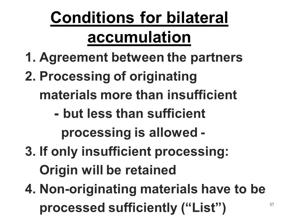 Conditions for bilateral accumulation