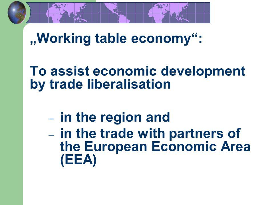 """Working table economy :"