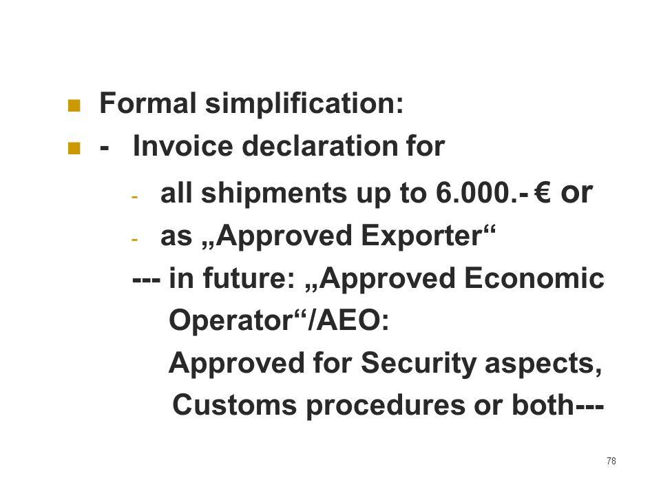 Formal simplification: