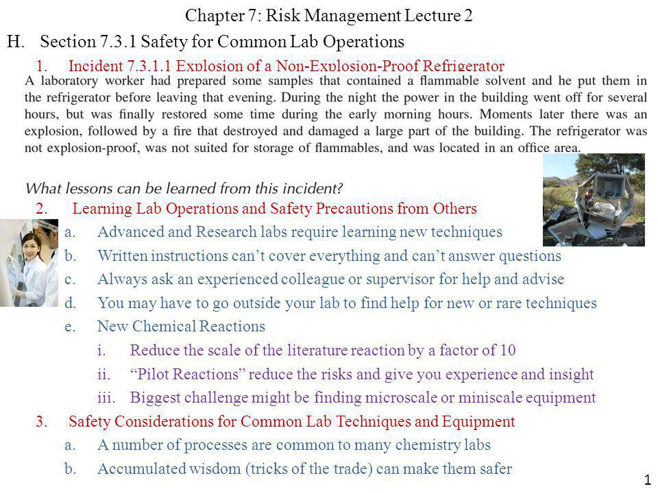 Chapter 7: Risk Management Lecture 2