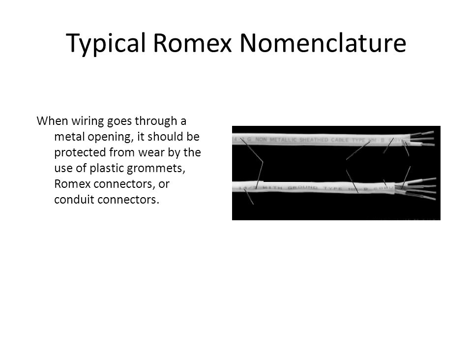 Typical Romex Nomenclature