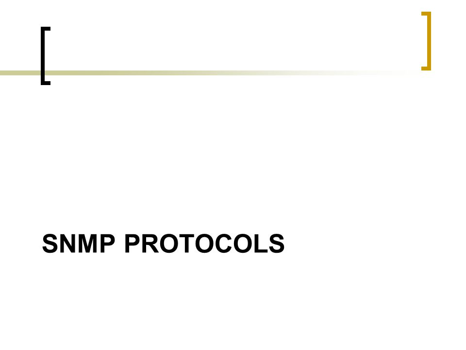 SNMP protocols