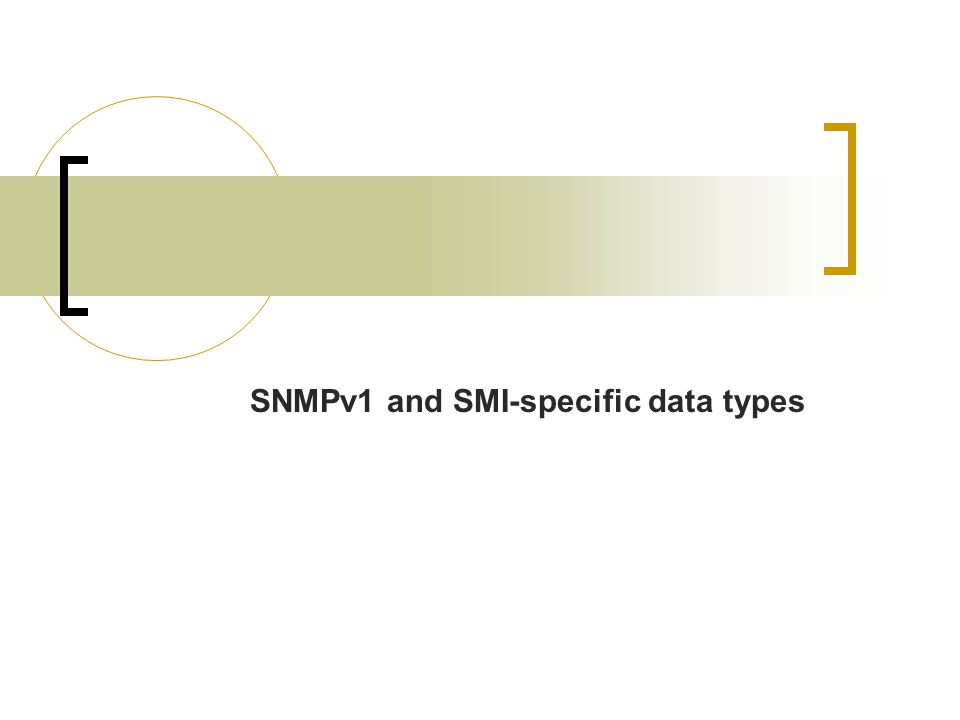 SNMPv1 and SMI-specific data types