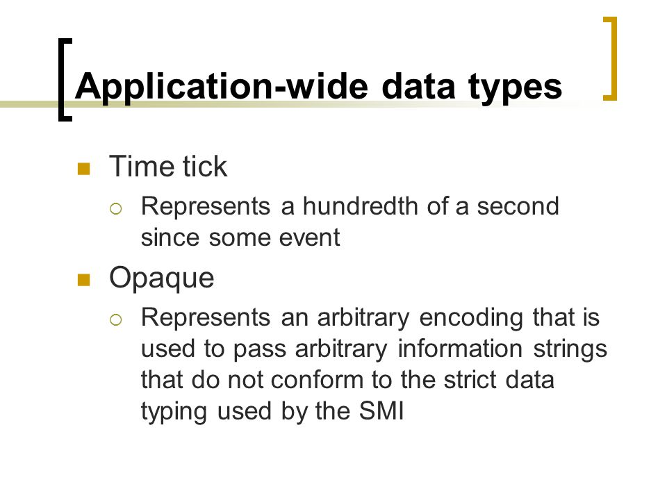 Application-wide data types