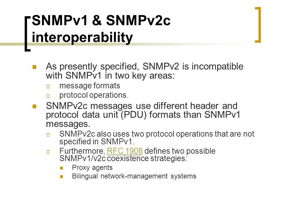 SNMPv1 & SNMPv2c interoperability