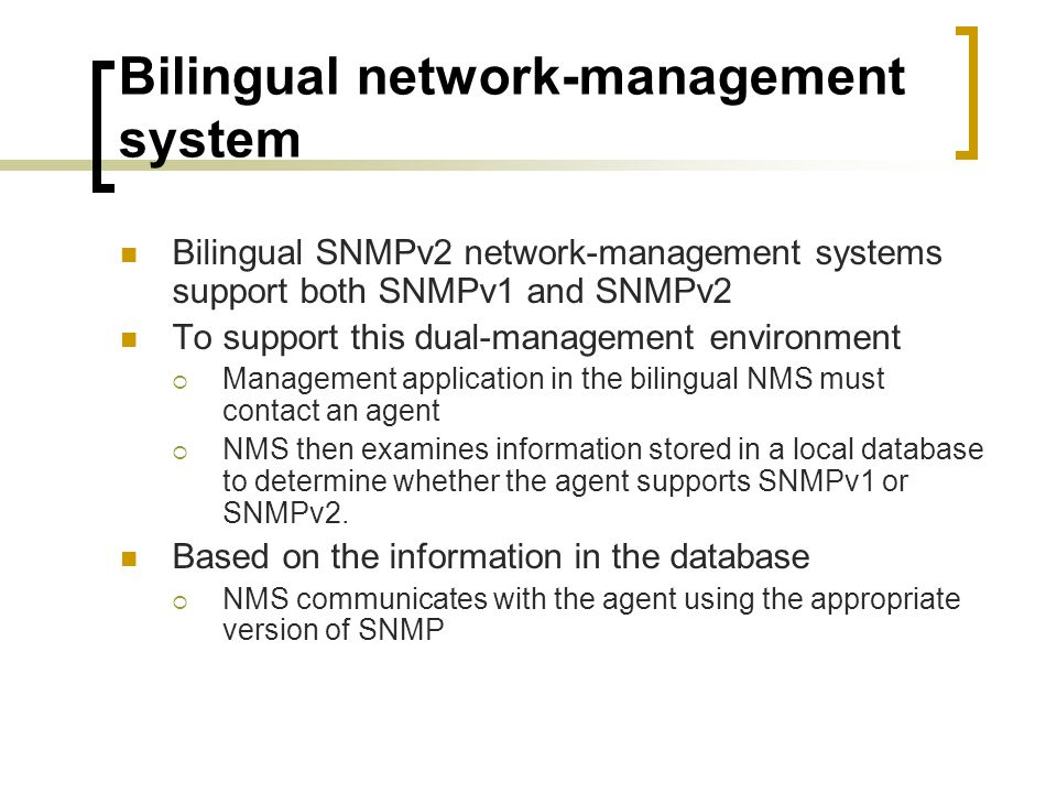 Bilingual network-management system