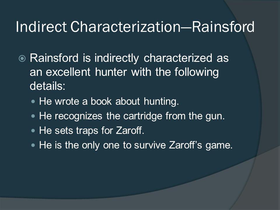 Indirect Characterization—Rainsford