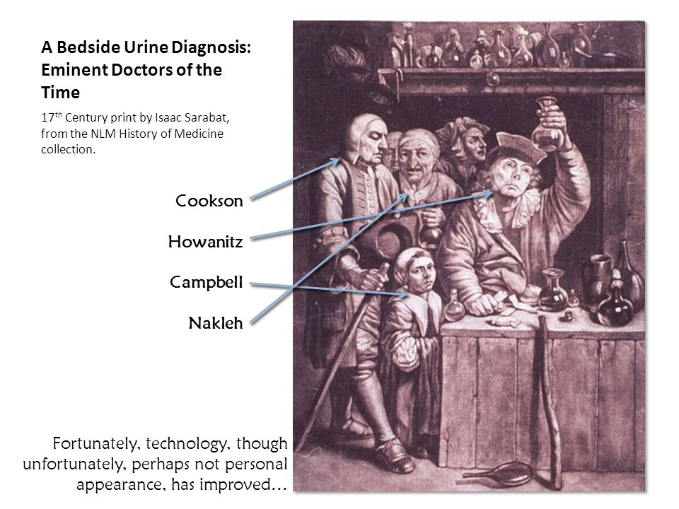 A Bedside Urine Diagnosis: Eminent Doctors of the Time