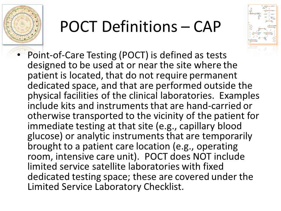 POCT Definitions – CAP