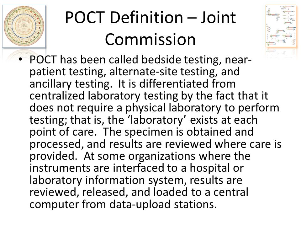 POCT Definition – Joint Commission