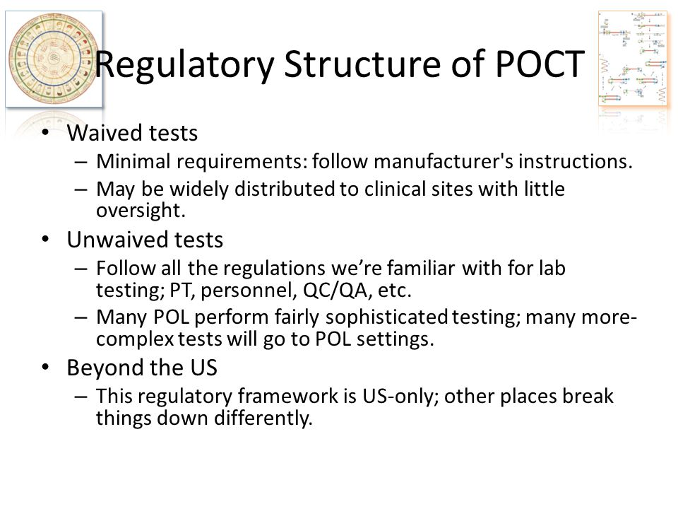 Regulatory Structure of POCT