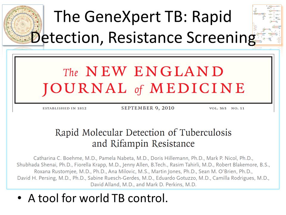 The GeneXpert TB: Rapid Detection, Resistance Screening