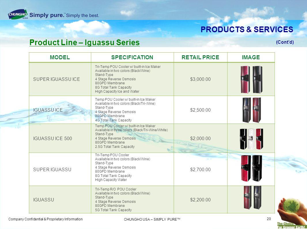 Product Line – Iguassu Series