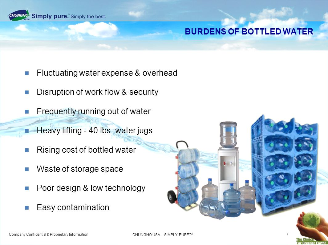 BURDENS OF BOTTLED WATER