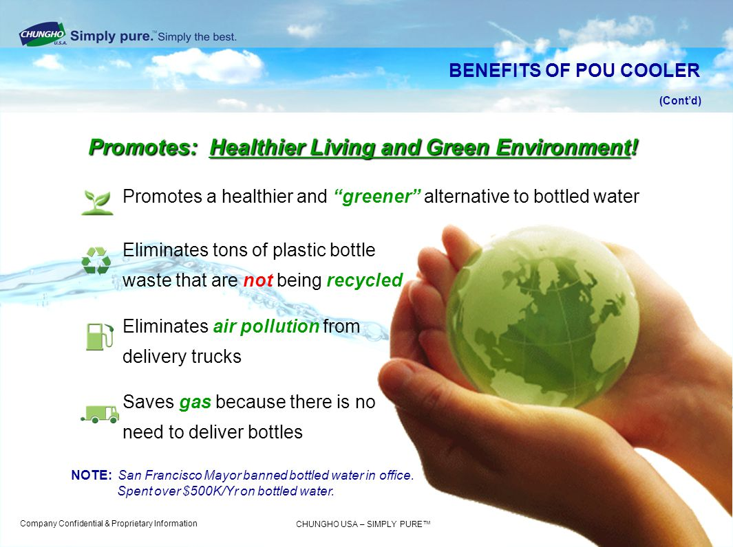 Promotes: Healthier Living and Green Environment!