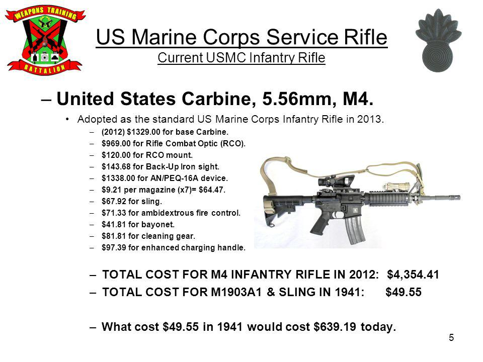 US Marine Corps Service Rifle Current USMC Infantry Rifle