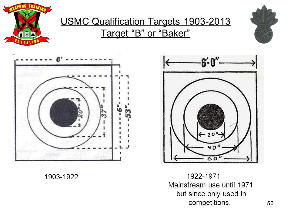 USMC Qualification Targets Target B or Baker