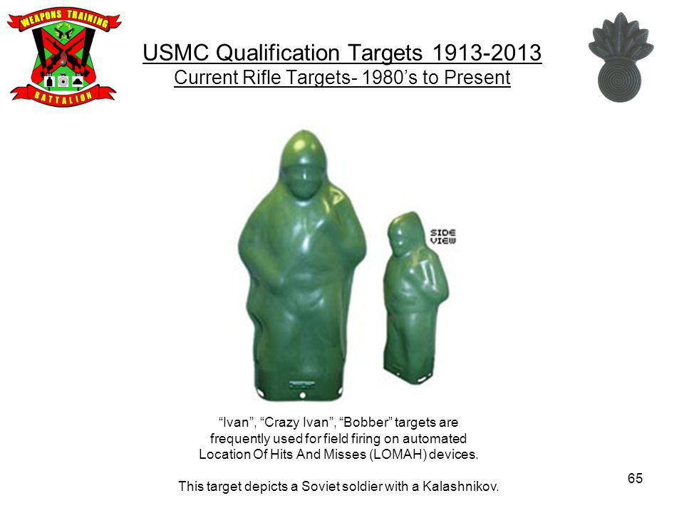 USMC Qualification Targets 1913-2013 Current Rifle Targets- 1980's to Present