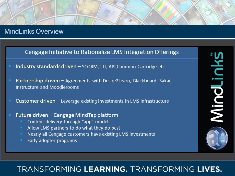 Cengage Initiative to Rationalize LMS Integration Offerings