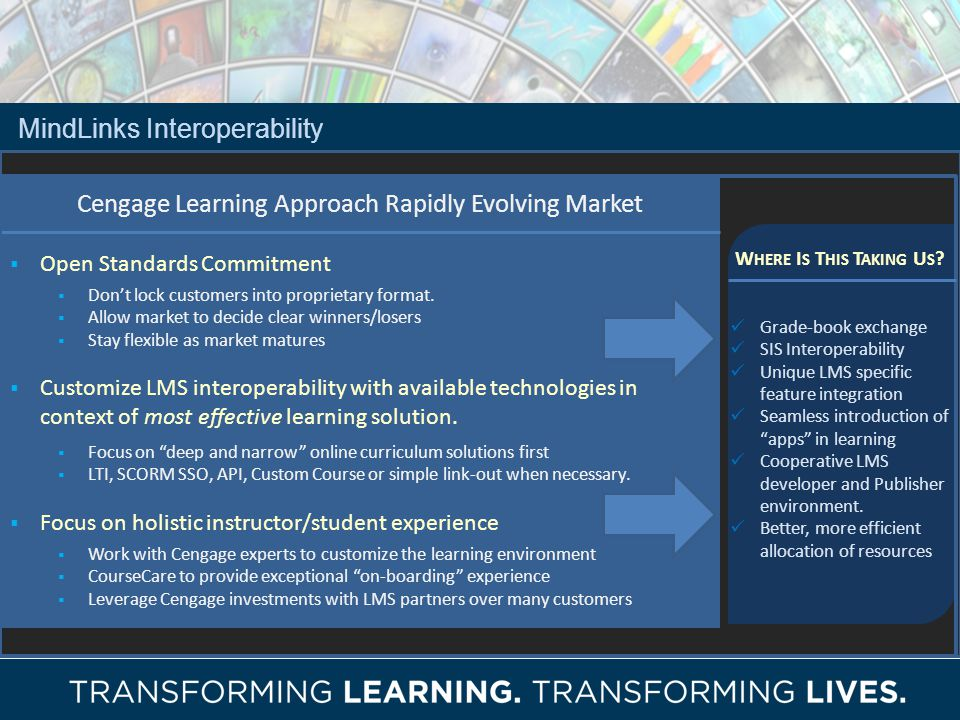 Cengage Learning Approach Rapidly Evolving Market