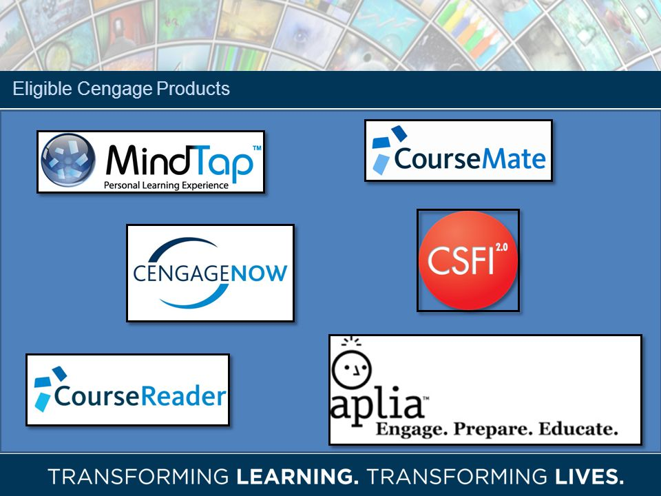 Eligible Cengage Products