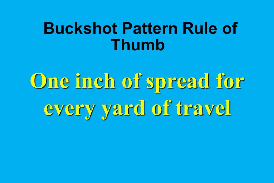 Buckshot Pattern Rule of Thumb