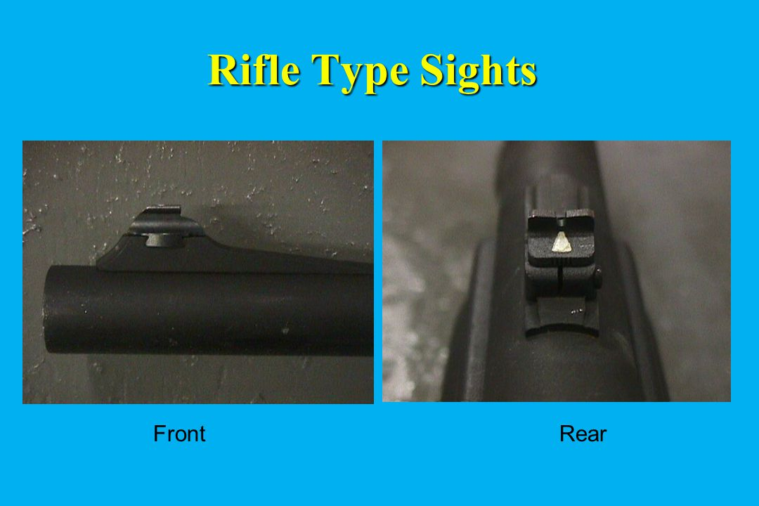 Rifle Type Sights Front Rear