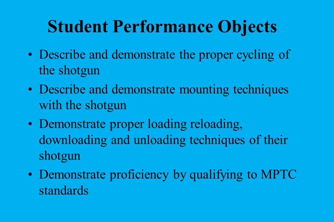 Student Performance Objects