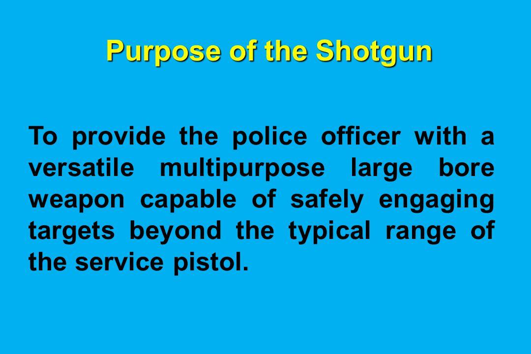 Purpose of the Shotgun