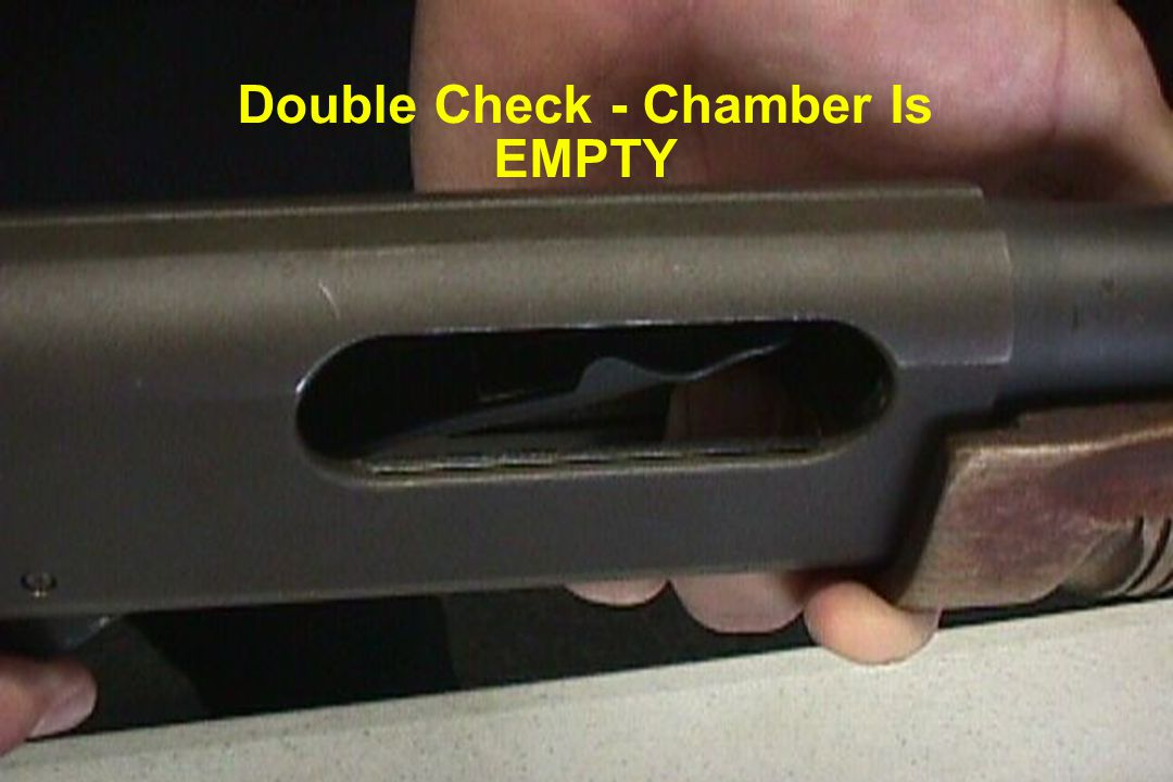 Double Check - Chamber Is EMPTY