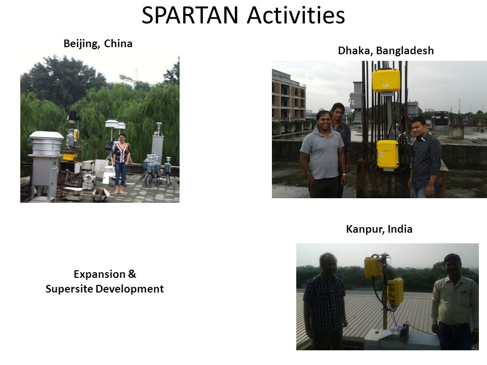 SPARTAN Activities Beijing, China Dhaka, Bangladesh Kanpur, India