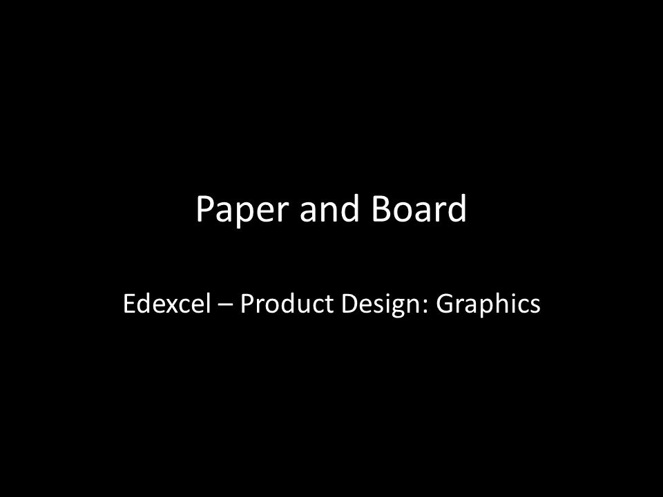 Edexcel – Product Design: Graphics