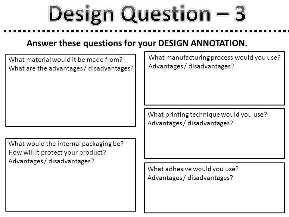 Answer these questions for your DESIGN ANNOTATION.