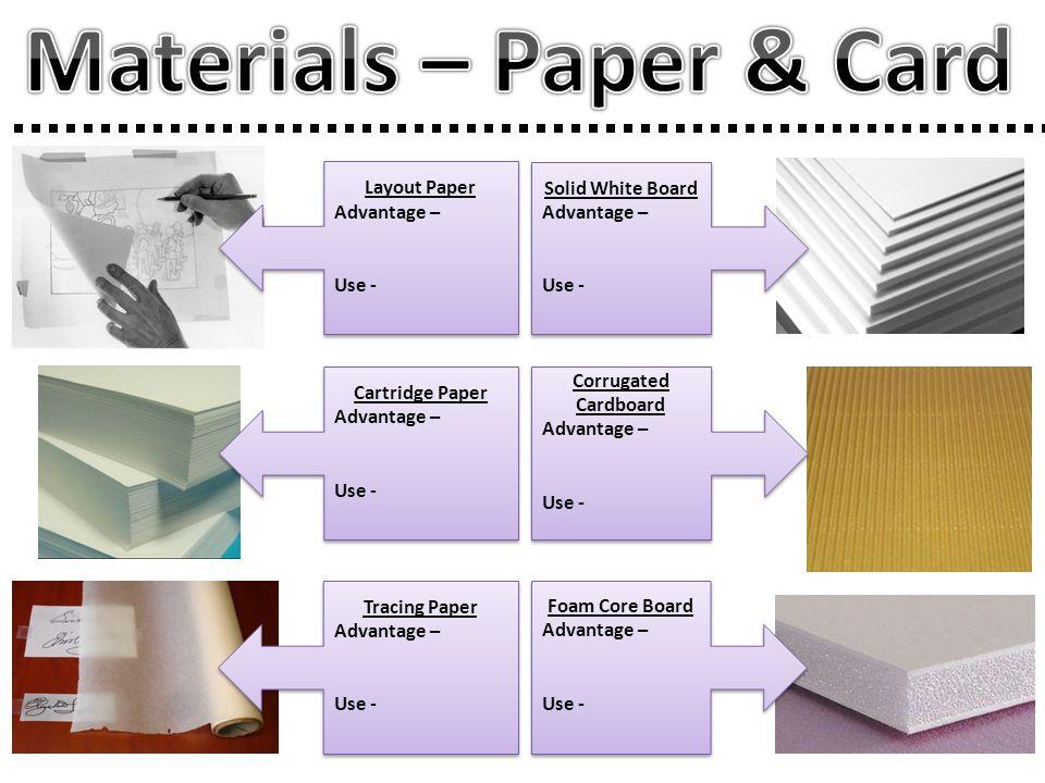 Materials – Paper & Card