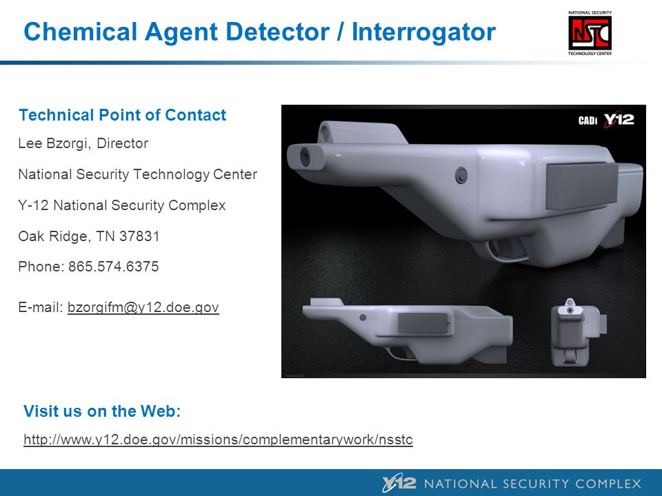 Chemical Agent Detector / Interrogator