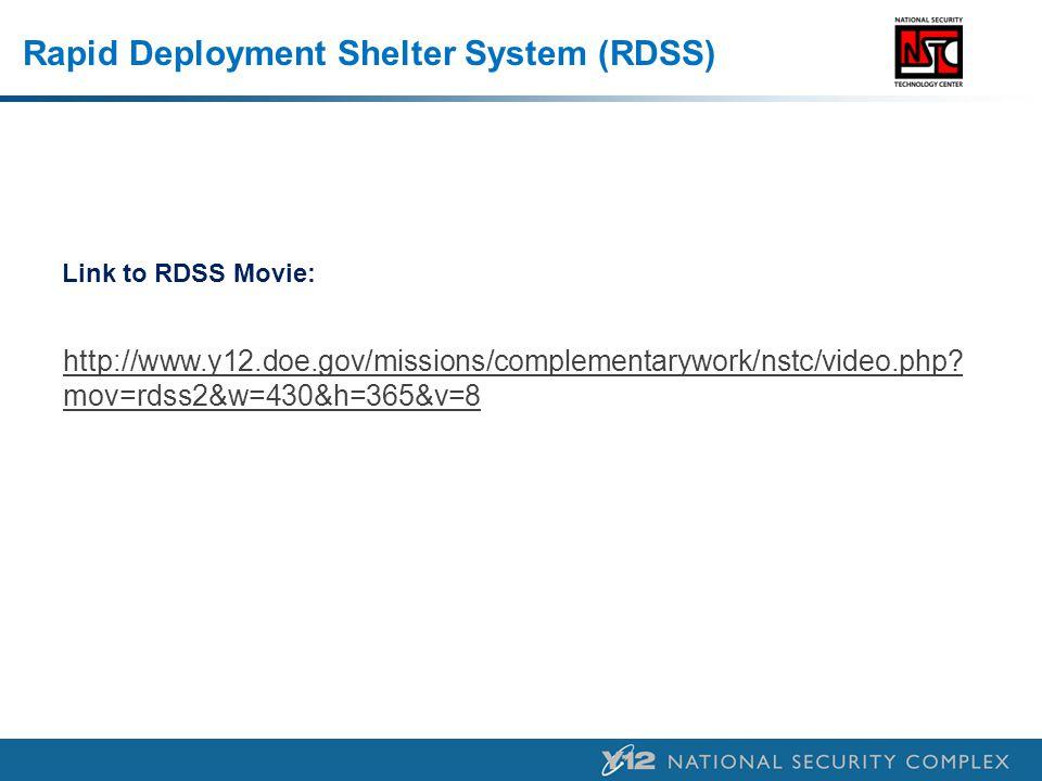 Rapid Deployment Shelter System (RDSS)