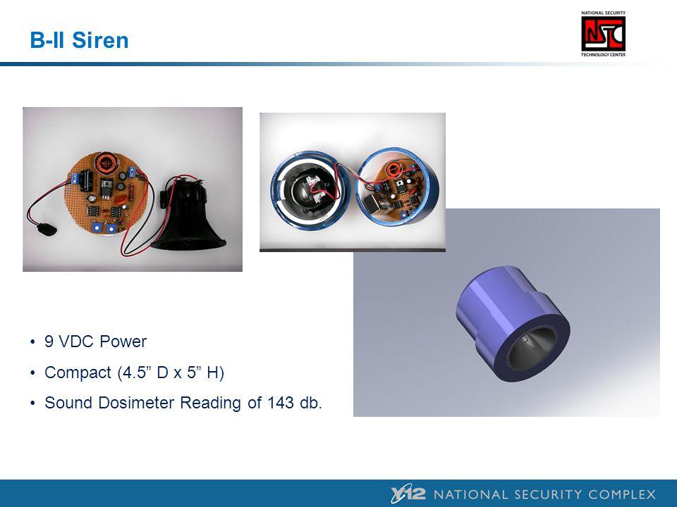 B-II Siren 9 VDC Power Compact (4.5 D x 5 H)