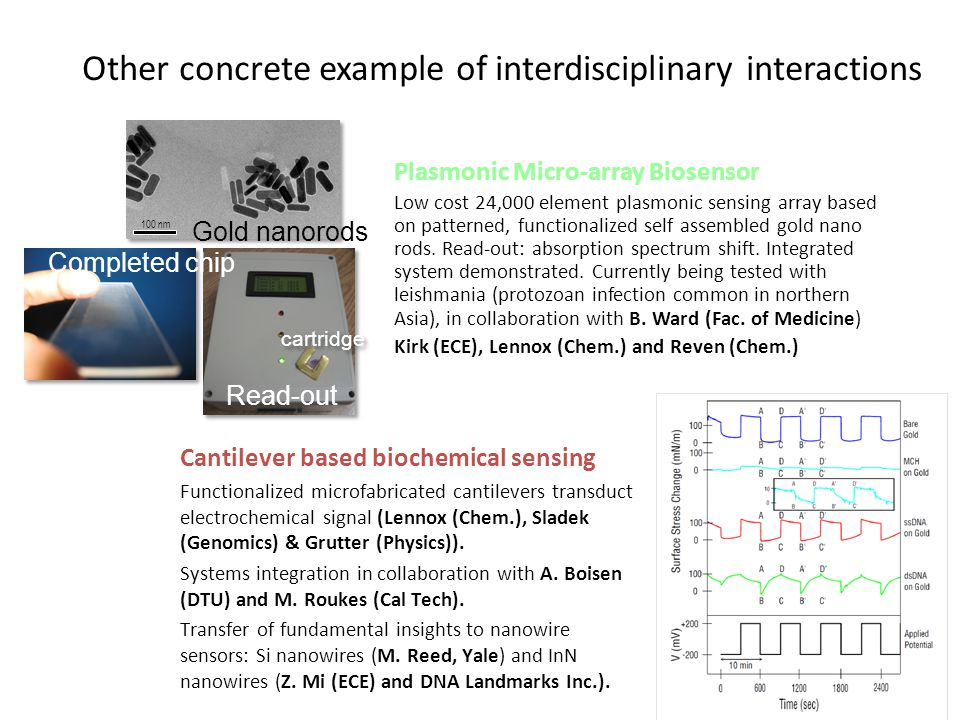 Other concrete example of interdisciplinary interactions