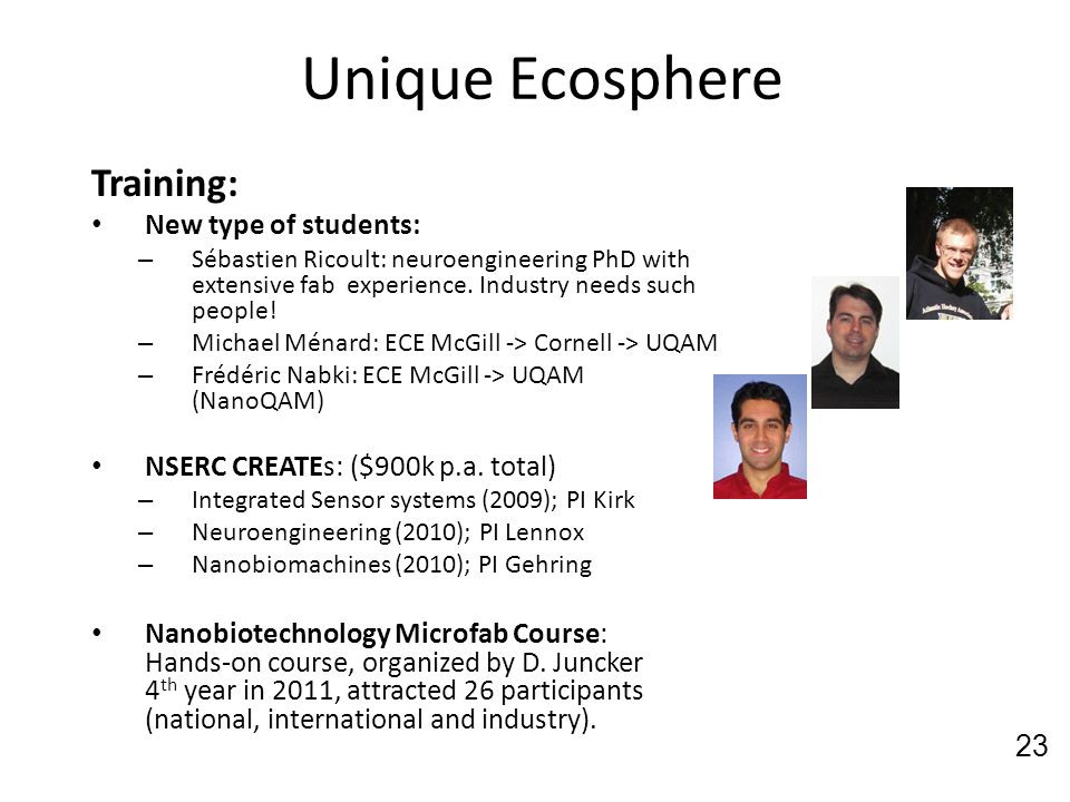 Unique Ecosphere Training: New type of students: