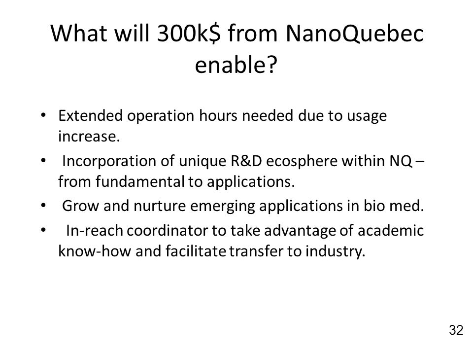 What will 300k$ from NanoQuebec enable