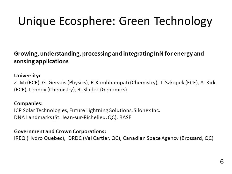 Unique Ecosphere: Green Technology
