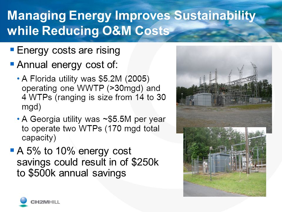 Managing Energy Improves Sustainability while Reducing O&M Costs