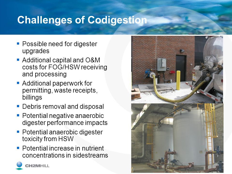 Challenges of Codigestion